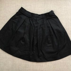French Connection/FCJeans Black Coated Denim Skirt